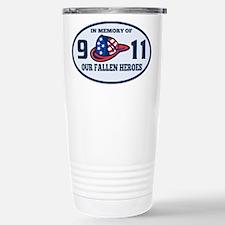 9-11 fireman firefighte Travel Mug