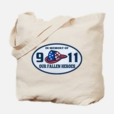 9-11 fireman firefighte Tote Bag