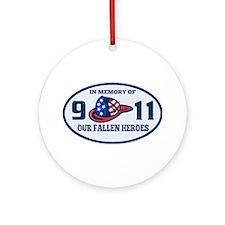 9-11 fireman firefighte Ornament (Round)