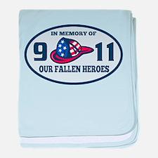 9-11 fireman firefighte baby blanket