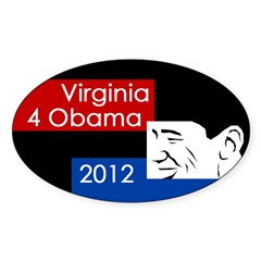 Virginia 4 Obama 2012 bumper sticker