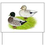 Snowy Call Ducks Yard Sign