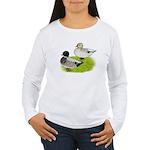 Snowy Call Ducks Women's Long Sleeve T-Shirt