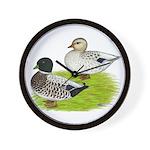 Snowy Call Ducks Wall Clock