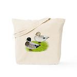 Snowy Call Ducks Tote Bag