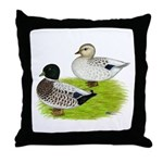Snowy Call Ducks Throw Pillow