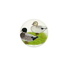 Snowy Call Ducks Mini Button (100 pack)