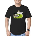 Snowy Call Ducks Men's Fitted T-Shirt (dark)