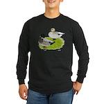 Snowy Call Ducks Long Sleeve Dark T-Shirt