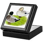Snowy Call Ducks Keepsake Box