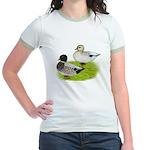 Snowy Call Ducks Jr. Ringer T-Shirt