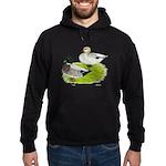 Snowy Call Ducks Hoodie (dark)