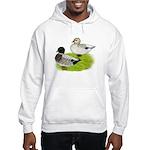 Snowy Call Ducks Hooded Sweatshirt