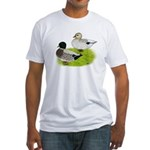 Snowy Call Ducks Fitted T-Shirt