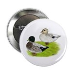 "Snowy Call Ducks 2.25"" Button (100 pack)"