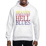 Heaven purgatory hell blues Hooded Sweatshirt