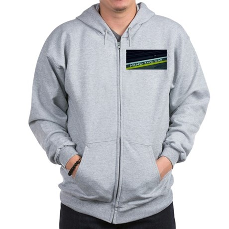 """mind the gap""--Zip Hoodie"