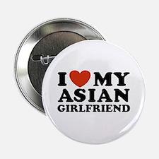 I Love My Asian Girlfriend Button