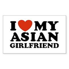 I Love My Asian Girlfriend Rectangle Decal