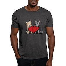 Cairn Terrier Heartfelt Duo T-Shirt
