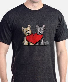 Cairn Terrier Heartfelt Duo T-Shirt
