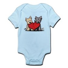Cairn Terrier Heartfelt Duo Infant Bodysuit