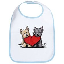 Cairn Terrier Heartfelt Duo Bib