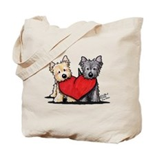 Cairn Terrier Heartfelt Duo Tote Bag