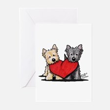 Cairn Terrier Heartfelt Duo Greeting Cards (Pk of