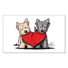 Cairn Terrier Heartfelt Duo Decal