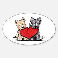 Cairn Terrier Heartfelt Duo Sticker (Oval 10 pk)