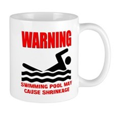 Warning Swimming Pool Shrinkage Seinfield Mug