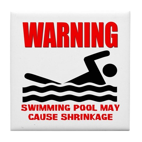 Warning Swimming Pool Shrinkage Seinfield Tile Coa