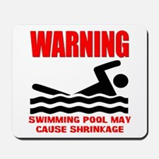 Warning Swimming Pool Shrinkage Seinfield Mousepad