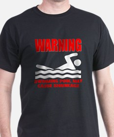 Warning Swimming Pool Shrinkage Seinfield T-Shirt