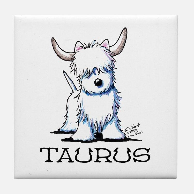 Taurus Westie Tile Coaster