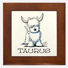 Taurus Westie Framed Tile