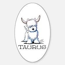 Taurus Westie Sticker (Oval 10 pk)
