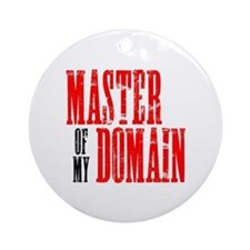 Master of My Domain Seinfield Ornament (Round)