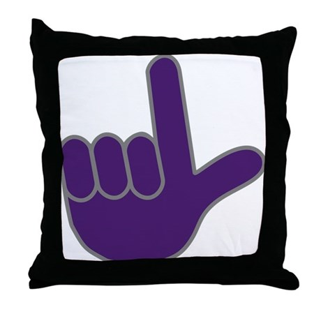 big purple loser throw pillow by happyworkstuff With big purple pillow