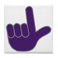 Big Purple Loser Tile Coaster