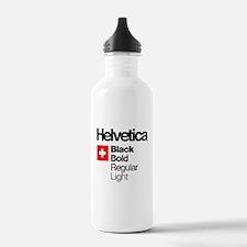 Cute Helvetica Water Bottle