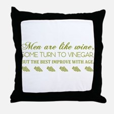 Men Are Like... (Grn) Throw Pillow
