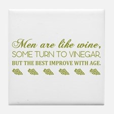 Men Are Like... (Grn) Tile Coaster