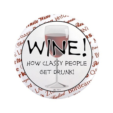 "Wine! 3.5"" Button (100 pack)"