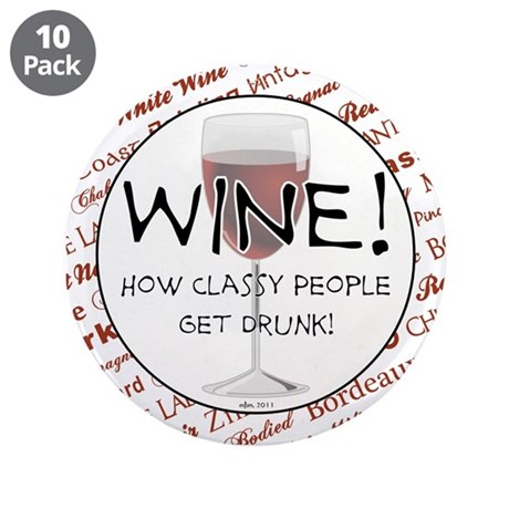 "Wine! 3.5"" Button (10 pack)"