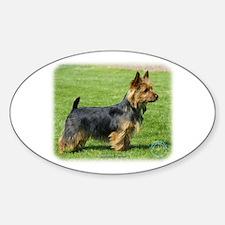 Australian Terrier 9R044D-62 Sticker (Oval)