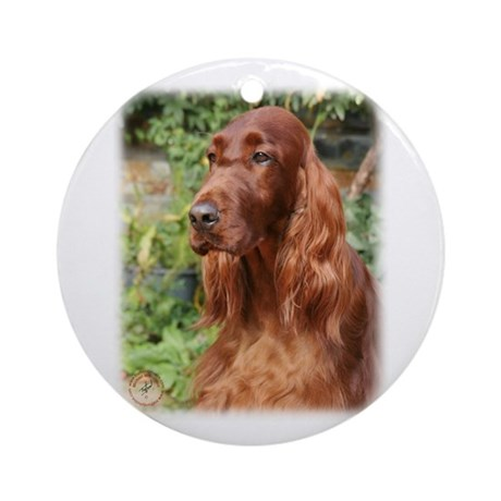 Irish Setter 9Y209D-090 Ornament (Round)