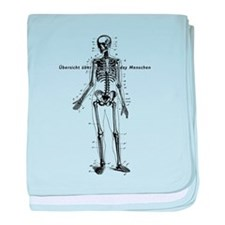 Human Body Chart baby blanket
