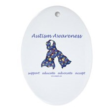 Autism Awareness (seaa) Ornament (Oval)